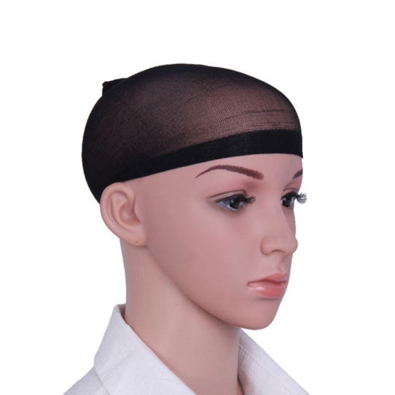 도매 헤어 메쉬 디럭스 가발 모자 라이너 Hairnet 탄성 메쉬 Glueless Dome 가발 모자 스타킹 Hairnet Snood Stretchable Elastic Hair
