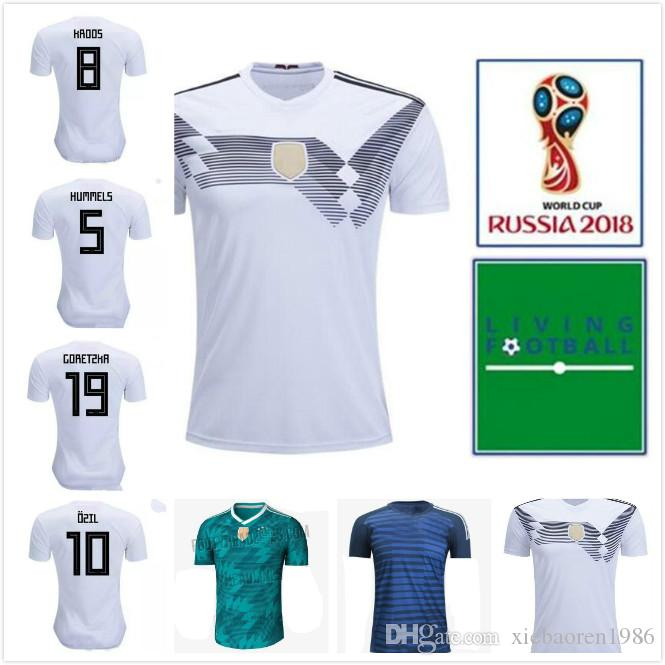 Compre 2018 Copa Do Mundo Da Alemanha Camisa De Futebol Nacional 17 ... 140274d265e43