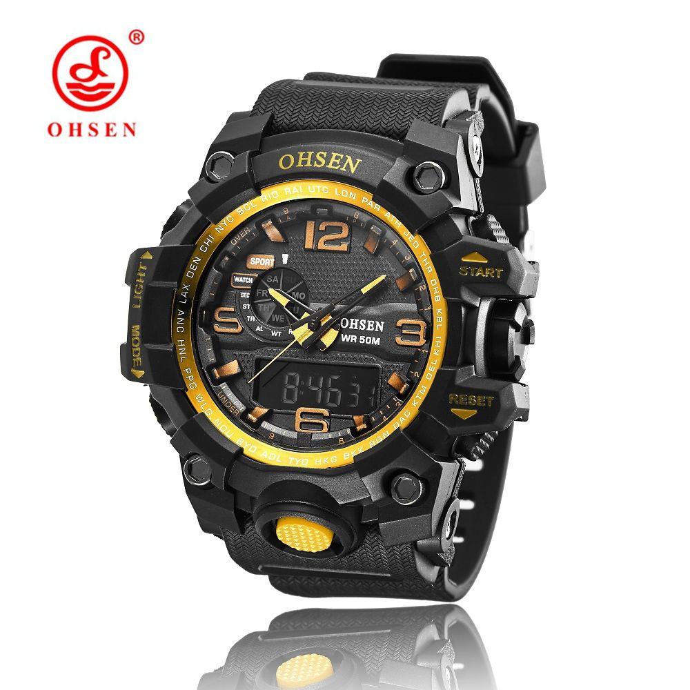 e6dc4a91866d Compre Relojes Para Hombre Top Brand OHSEN Luxury Fashion LED Relojes De  Cuarzo Hombres Deportes Relojes De Pulsera Montre Homme Male Clock Relogio  ...