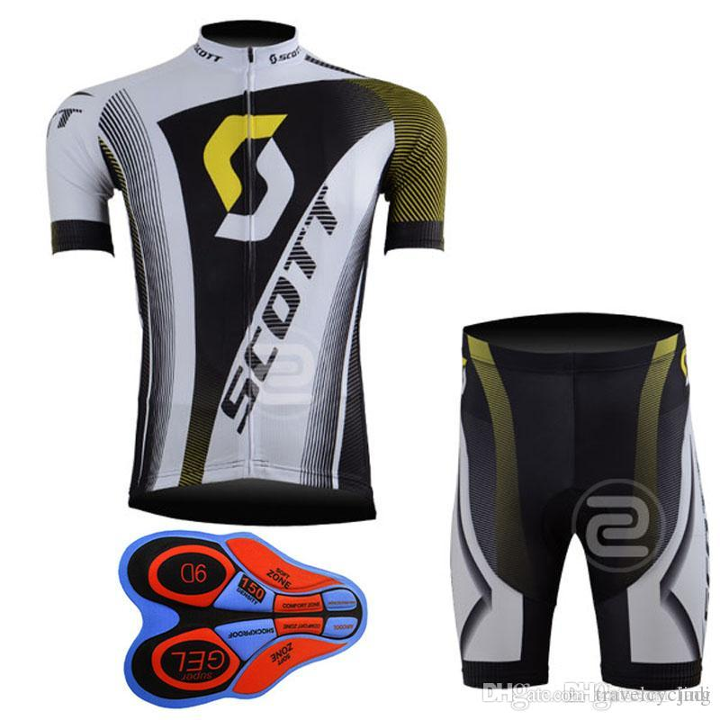 New arrive SCOTT pro cycling jersey 2017 9D gel pad Breathable quick-drying bike maillot ropa ciclismo Bicycle shorts set MTB Bike F2002