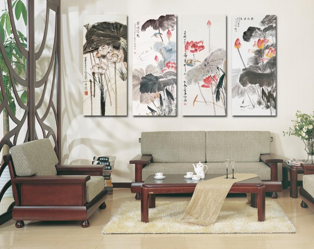 Großhandel 4 Stück Wandkunst Chinesische Malerei Große Wandbilder ...