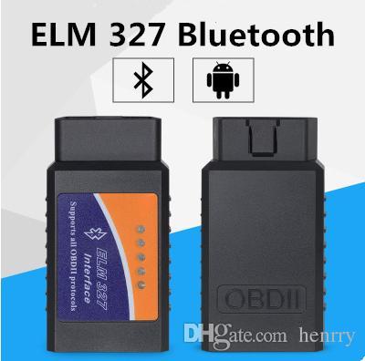 ELM327 Bluetooth Scanner يمكن أن تعمل على الهاتف المحمول Elm 327 BT OBDII Scan Tool أحدث نسخة ELM327 Bluetooth Epacket