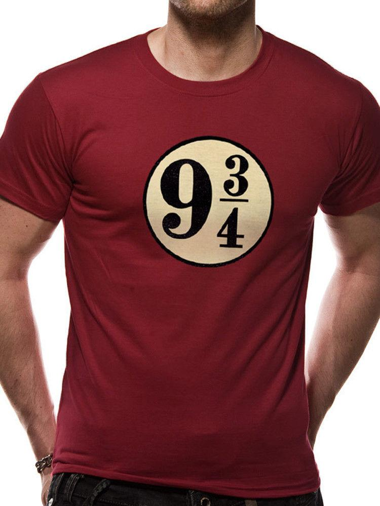 f91d35d3b92 Harry Potter Platform 9 3 4 Kings Cross Hogwarts Express Burgundy Mens T  Shirt Funny Slogan T Shirts Cool Shirt Design From Ineffableworld