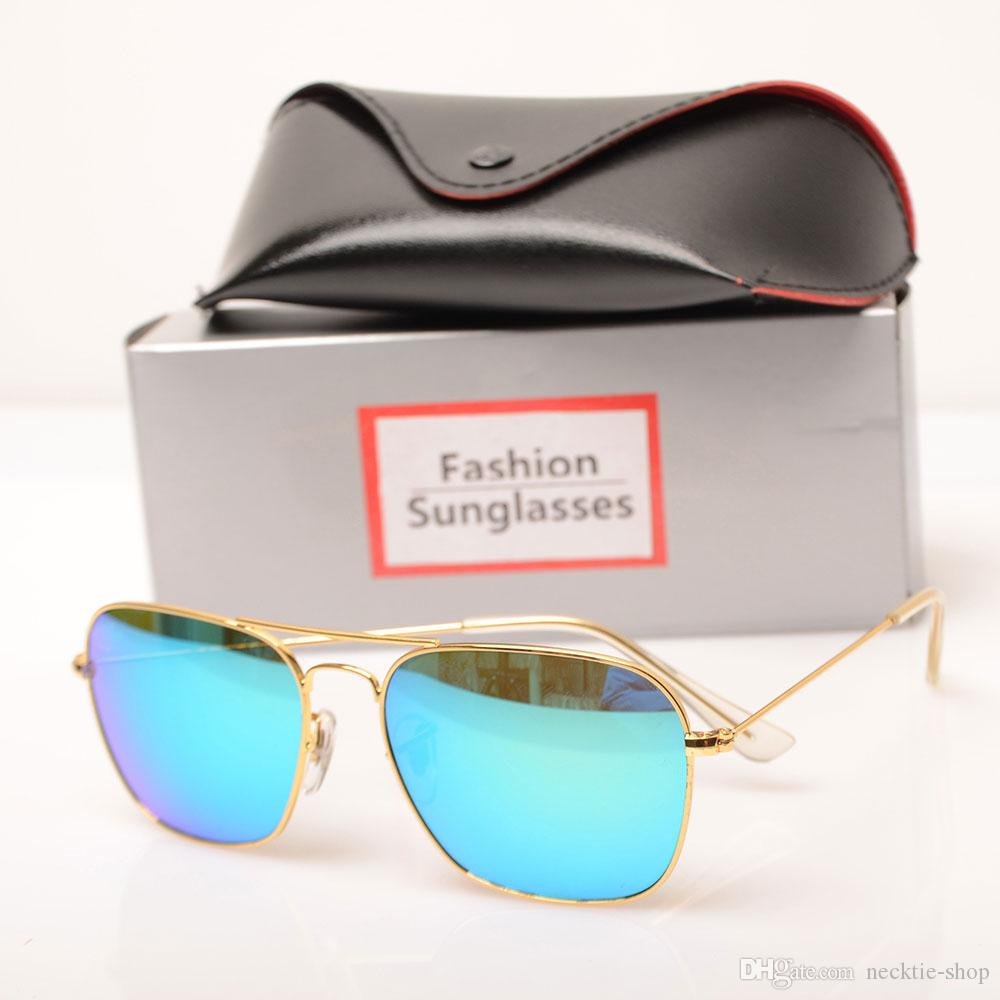 71a57b6f6 Großhandel 10 STÜCKE Sonnenbrille Glaslinse Hochwertige Sonnenbrille Farbe  Linse Spiegel Sonnenbrille Herren Und Frauen Brille Mode Neue 3136 Design  ...