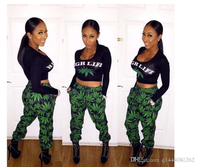 Mulheres Terno Do Esporte Top Colheita + Calças de Fitness Conjunto de Duas Peças Flor Impresso Treino Treino Terno de Uma Mulher