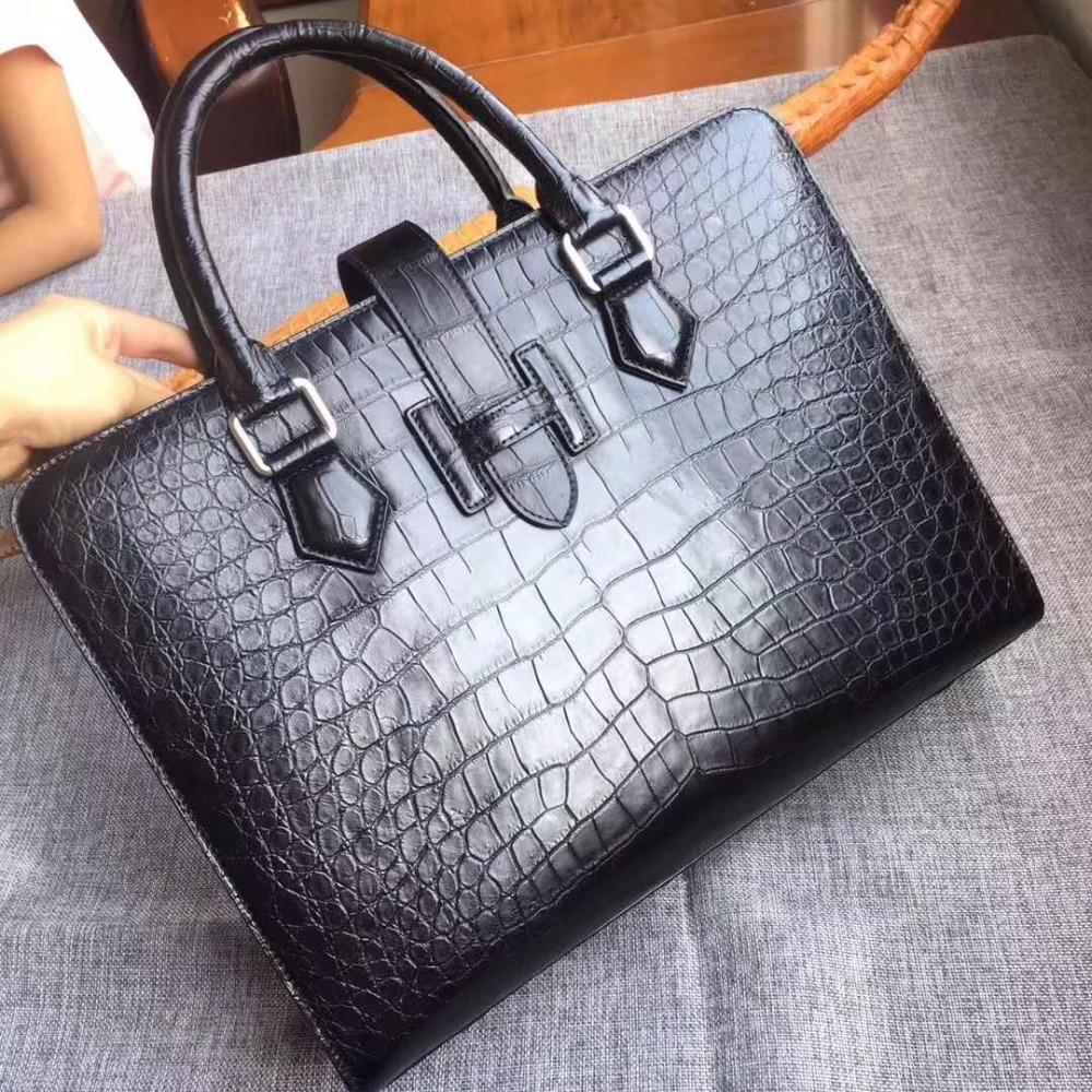 2018 Newly Production Men S Genuine Real 100% Crocodile Belly Skin Briefcase  Official Bag, Crocodile Skin Business Men Bag Man Bags Leather Satchel From  ... 7403db26fd