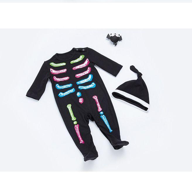 3b6cdd2cc3c9 0-24 Months Baby Halloween Skull Clothes Autumn Infant Girls Boys ...