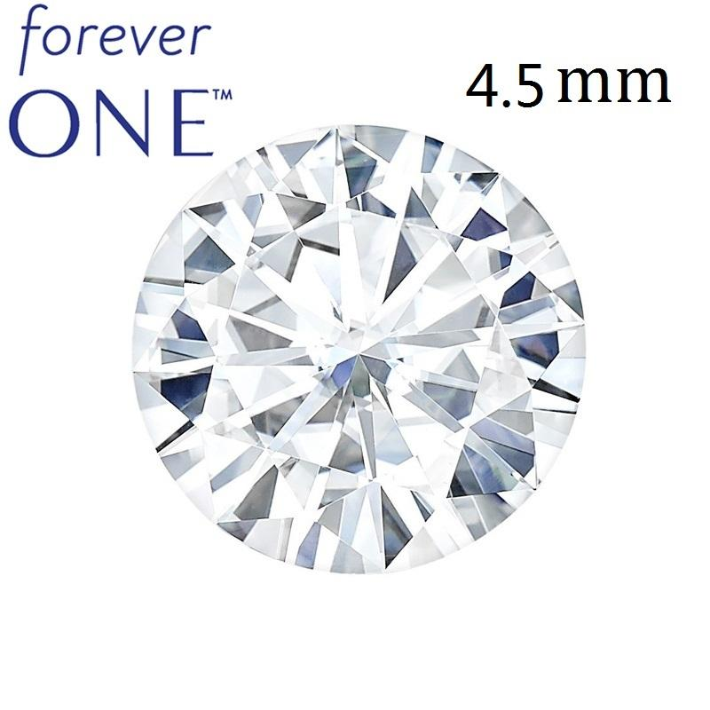 2019 Real Charles Colvard Moissanite Loose Stone With Certificate Forever One VVS VS DEF 4.5mm 0.3CT Excellent Cut Positive Testing From Hiramee, ...