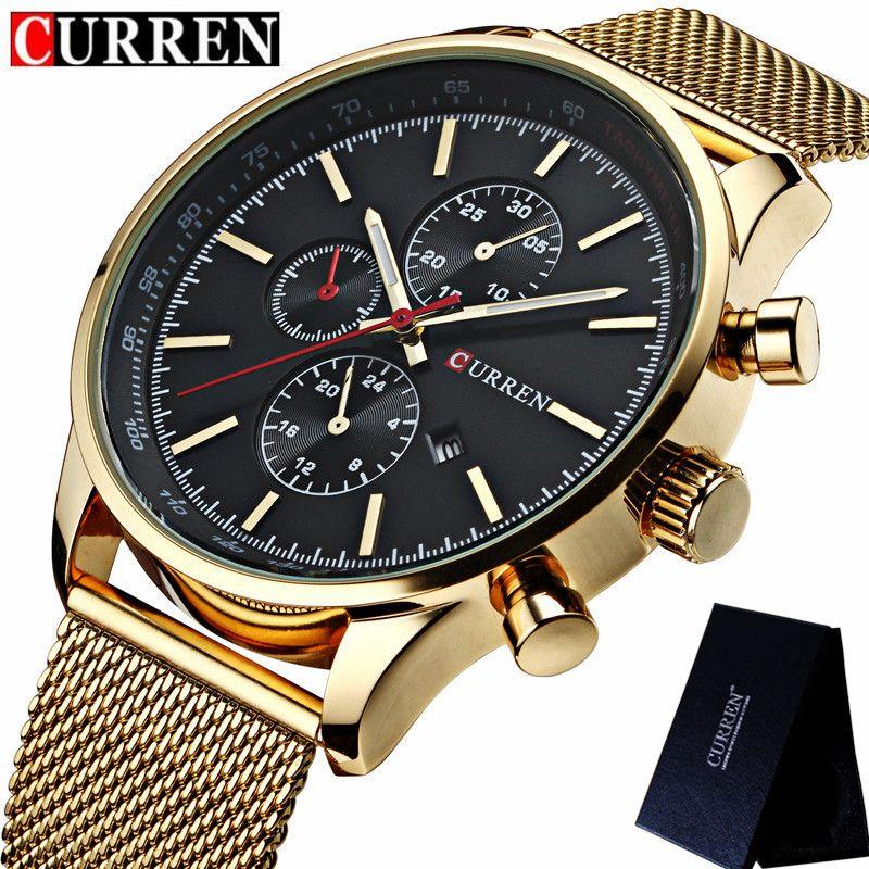 c1b10394dd4 CURREN Mens Watches Top Brand Luxury Men Wrist Watch Mesh Steel Sport  Business Clock Waterproof Relogio Masculino 8227 Watches To Buy Buy Online  Watches ...