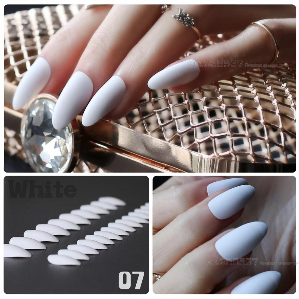 Pure Colour New Mountain Peak Designs White Artificial Nail Fashion Full  Nail Tips Stiletto Noble Matte False Nails Gel False Nails Red False Nails  From ... - Pure Colour New Mountain Peak Designs White Artificial Nail Fashion