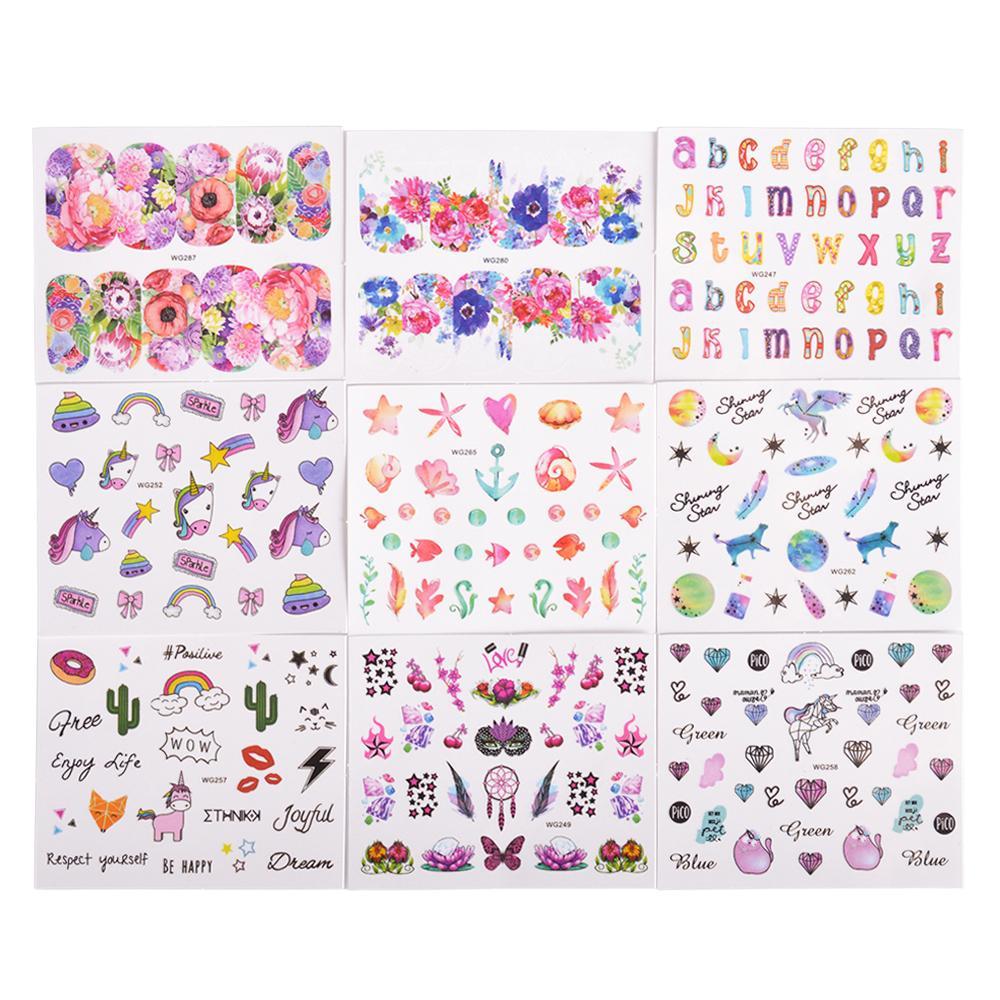 Ail Art Stickers Decals Full Beauty Cute Unicorn Diamond Colorful ...