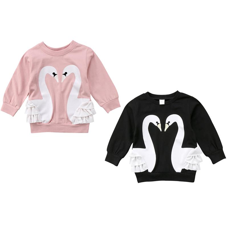 0b7ba9847 2019 Cute Children Baby Girl Cartoon Swan Pullover Hoodies Sweatshirt Tops  Autumn Clothes From Sightly, $40.31 | DHgate.Com