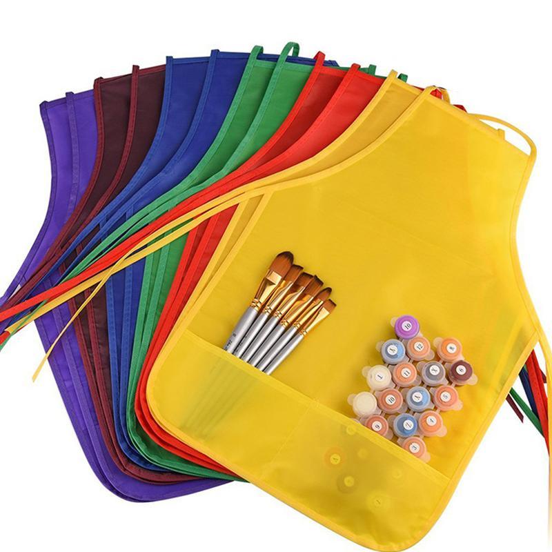 Satın Al Mutfak Boyama Cepler önlükleri Sınıf çocuk çocuklar 1 Adet