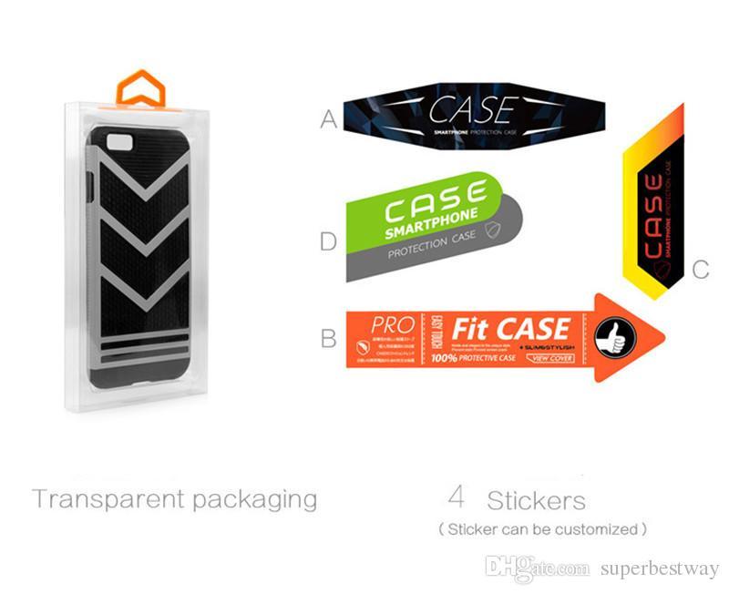 Moda Blister PVC Embalagem De Varejo De Plástico Transparente Logotipo Personalizado Embalagem Caixa Para TELEFONE 6 4.7 5.5 Caso de Telefone Móvel STY017