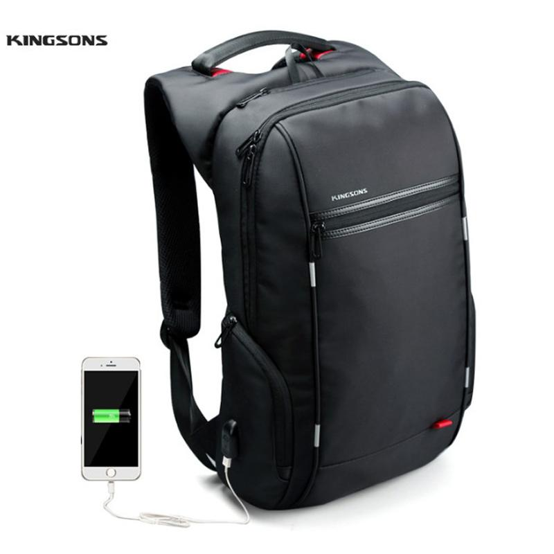 df7e86248e8a Kingsons Brand 15.6'' Men Laptop Backpack External USB Charge Antitheft  Computer Backpacks Male /Women Waterproof Bags Y1890401