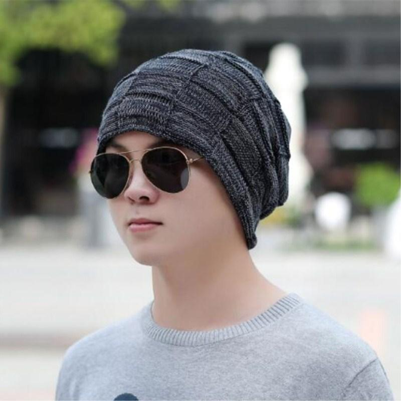 51f05099490 2019 Seioum Winter Beanie Cap Boy Beanies Hats For Men Knitted Wool Hat  Bone Skullies Men Casual Bonnet Warm Plaid Caps Gorro Masculi From Pekoe