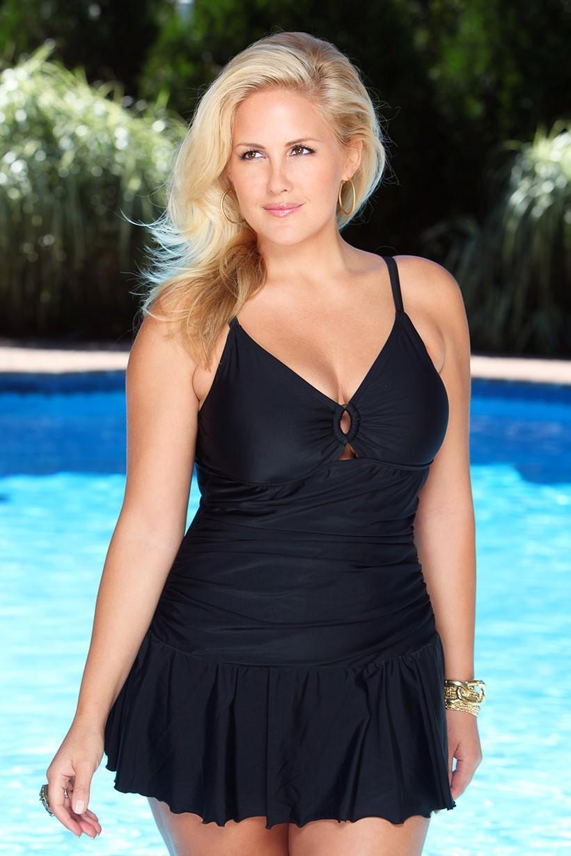 260ee0d774ec5 2019 New Summer Swimwear Plus Size Women Swearwear Suits Large Size Swim  Wear Maternity Swimsuits Pregnant Swimming Dress From Okbrand, $36.29 |  DHgate.Com