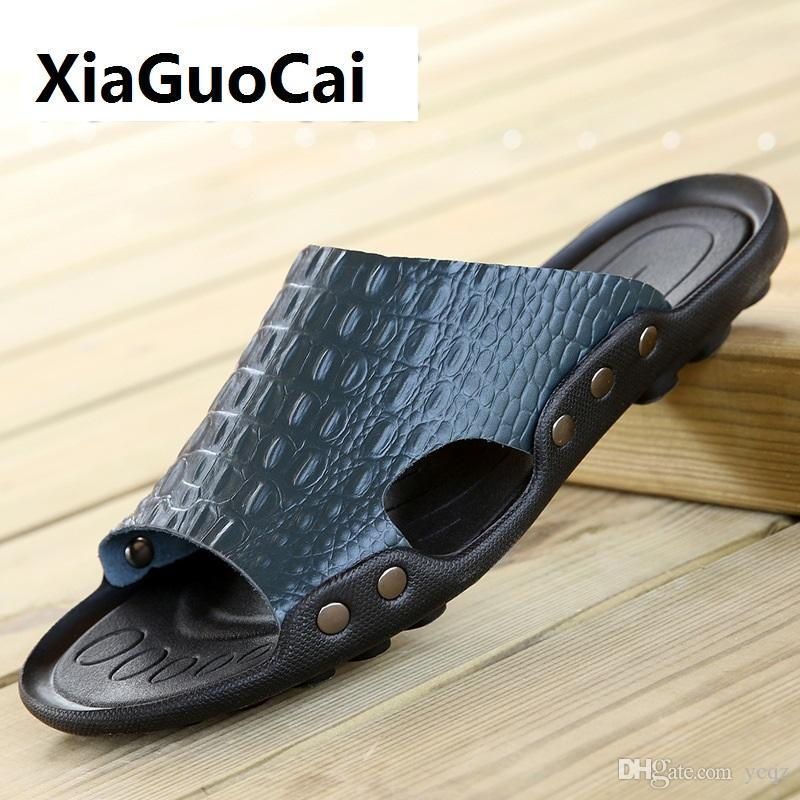 81b68042393d31 Mens Summer Beach Slipper Comfortable Casual Sandals Flip Flops Non-Slip  Mens Beach Outdoor Slipper Size 38-50 AA11652 Men Slippers Holiday Beach  Shoes ...