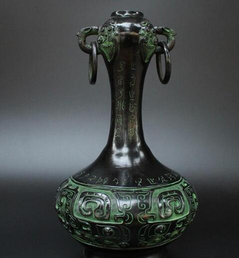 2019 Bronze Wares Garlic Vases Hand Made Handicrafts Living Room Decorations From Statue5858
