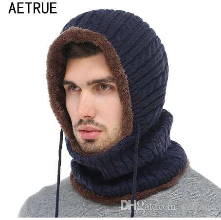 AETRUE Winter Knitted Hat Beanie Men Scarf Skullies Beanies Winter Hats For  Women Men Caps Gorras Bonnet Mask Brand Hats Skull Caps Stocking Cap From  ... fd77fa53c40