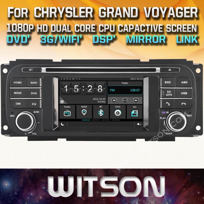 WITSON Car DVD for Jeep Caravan Concorde Dakota Durango Interpid PT Cruiser  Ram pick-up RADIO GPS stereo DSP Audio nice gift