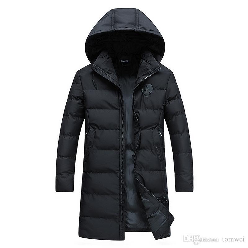 Großhandel Winter Long Coat Herren Daunen Parkas Hoodies Dicke Warme Jacken  Snow Tops Oberbekleidung Daunen Baumwolle Gepolsterte Große Größe 3XL 4XL  Von ... d86f9450dd