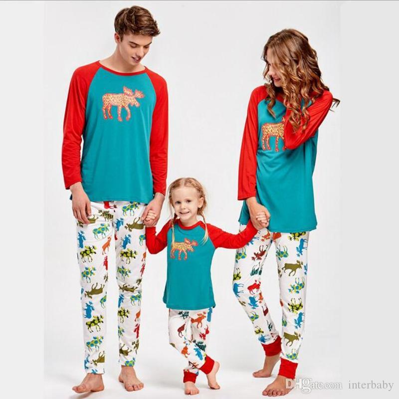 Compre Navidad Ninos Adultos Familia Pijamas A Juego Navidad Ciervos