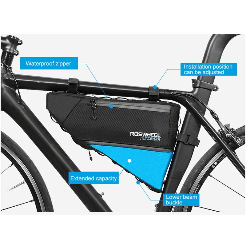 a9ec60fe555 ROSWHEEL ATTACK Series 121371 Waterproof Bag Top Front Frame Tube Triangle  Bag Saddlebags For Bicycles Rear Pannier Rack From Camelino, $66.52|  DHgate.Com