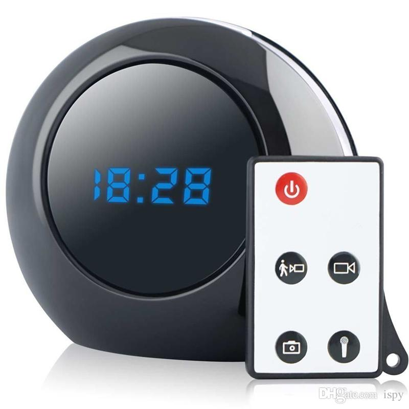 Multi Function Alarm Clock Cam 1280X960 Mini Clock Camera Video Recorder Security Camcorder Motion Activated DVR With Remote Control