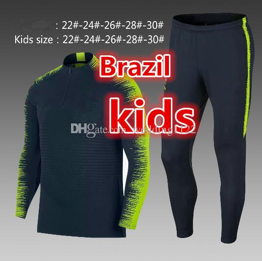 Brazil RONALDO 2018 kids N GRIEZMANN koke jacket Sweater MBAPPE soccer chandal football tracksuit training suit Sports JACKET