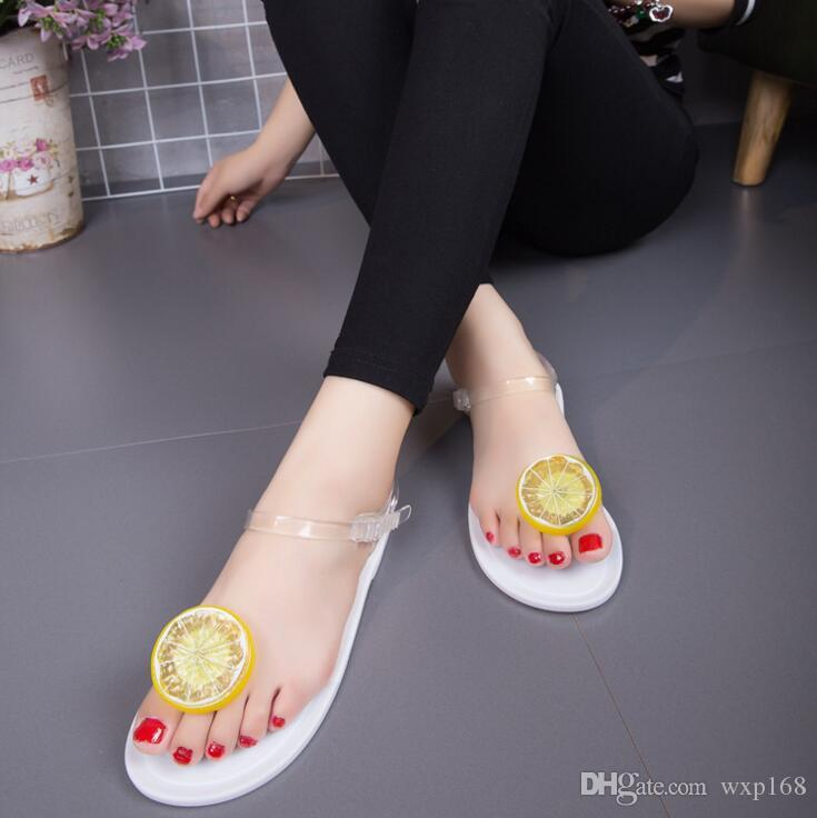 2c8805f130cd 2018 New Style Sweet Jelly Shoes Women Sandals Flat Summer Beach Shoes Woman  Casual Flats Shoes Sandals Red Wedges Summer Shoes From Wxp168