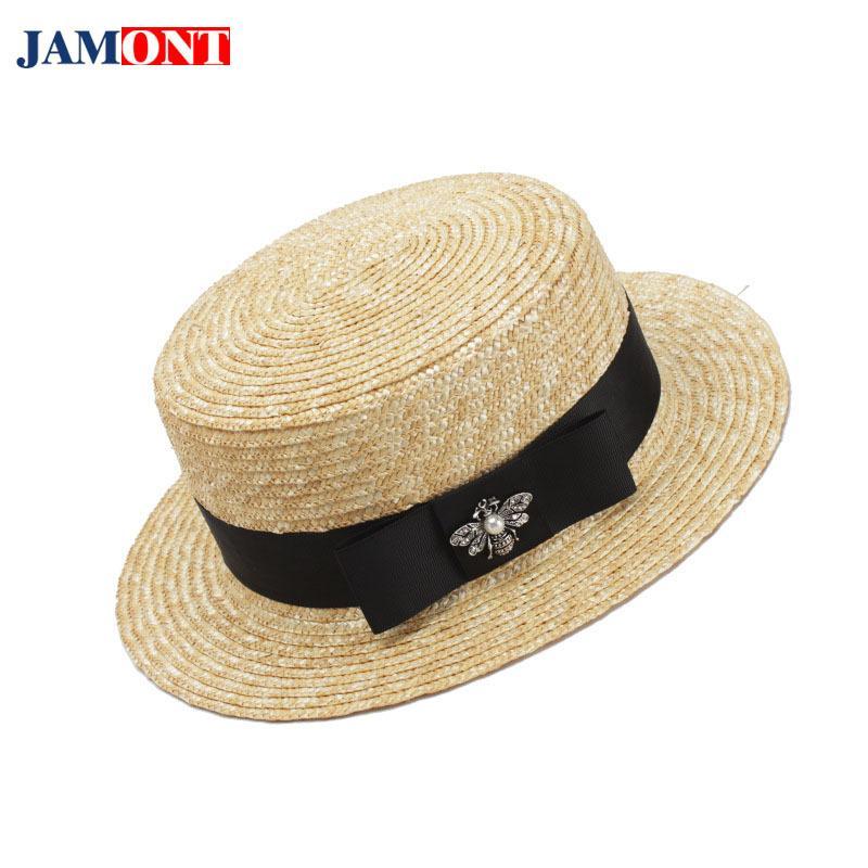 Compre JAMONT Gorra De Sol Para Mujer Sombrero De Verano Sombrero De Playa  Sombrero De Paja Sombrero De Paja De Abeja Salvaje Sombrero Decorativo Para  El ... 23307ca2985