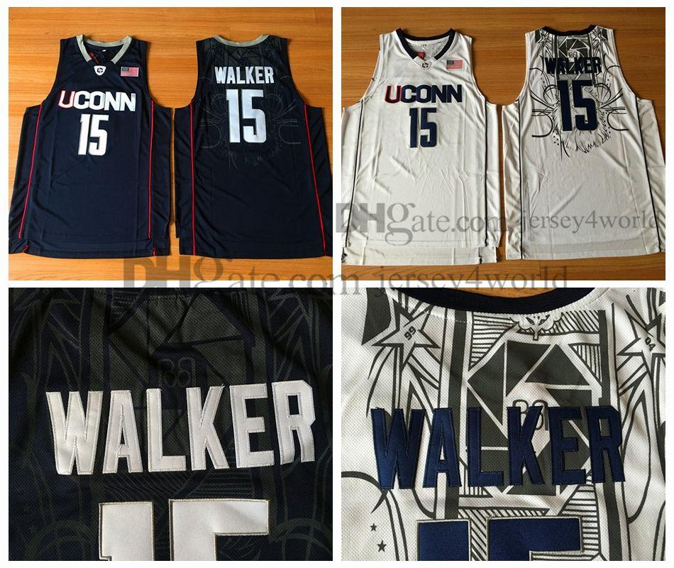 new concept 8444e 2168b NCAA UCONN 15 Kemba Walker Jersey Men s University Walker Basketball  Jerseys 100% Embroidery Stitched Cheap Wholesale