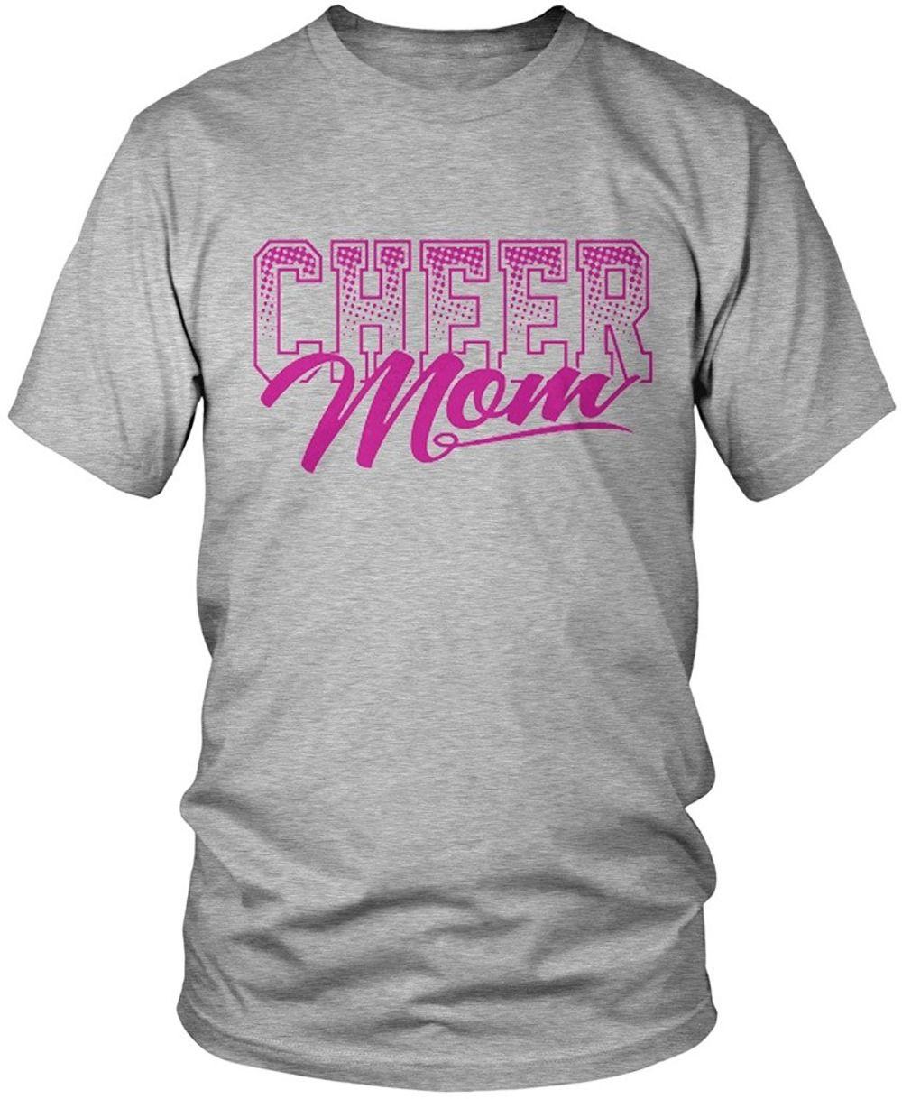 Cool T Shirts Fashion 2016 Cheer Mom Mens T Shirt O Neck Short