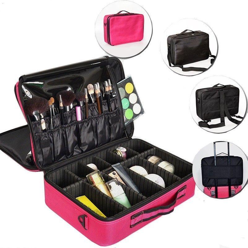 cf00507cc Compre Maleta Para Maquillaje, Hombres, Viajes, Maquillaje, Organizador,  Cosmetiquera, Cordón, Maquillaje, Grandes Capas, Estuches Cosméticos  Profesionales.