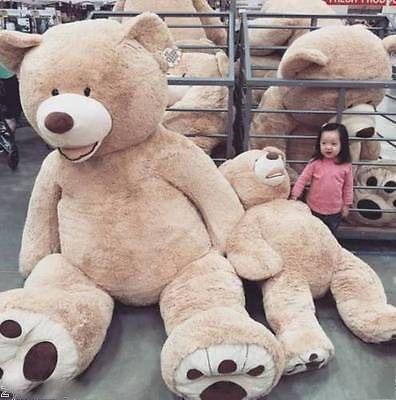 Heißes 200cm 300cm 340cm riesiges Bärnhautspielzeug amerikanisches Bärnplüsch Teddybärbärenhautgeschenk