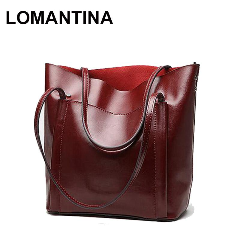 LOMANTINA Designer Women Genuine Leather Handbags Large Shoulder Bag Ladies  Tote Bags Casual Business Bag Bolsos Leather Bags For Men Branded Bags From  ... 8209981115b3b