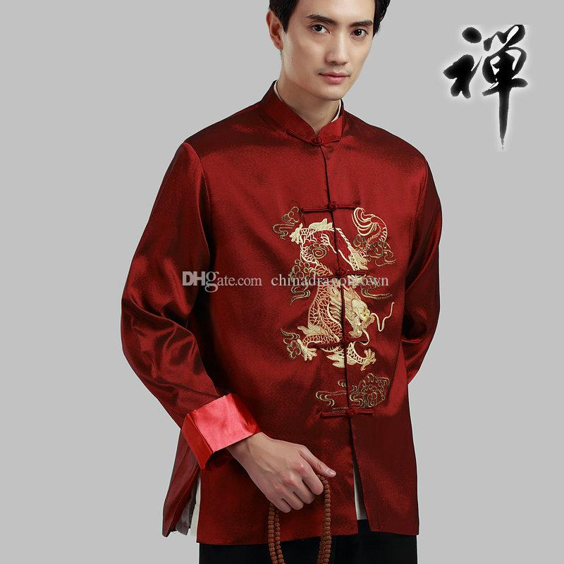 dbdba8a708de 2019 Vintage Classical Traditional Chinese Clothing For Men Long Sleeve  Outfit New Year Gift Party Tang Suit Men'S Chinese Tops Ethnic Clothing  From ...