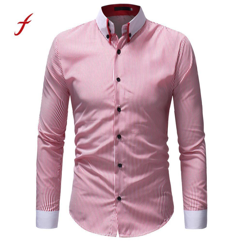 2019 Feitong 2018 Casual Shirts Men Oxford Slim Fit Shirt Men S