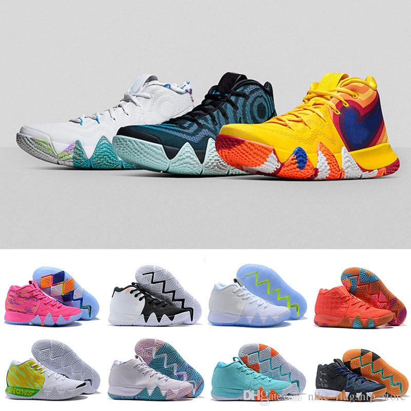huge selection of f4820 b5eef Original Kyrie IV Basketball Shoes Red Carpet Wheaties Irving 4 Fall  Foliage BHM EQUALITY City Guardians CNY All Star Mamba Mentality Shoes