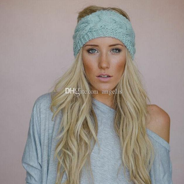 2019 Fashion Knitted Hair Band Knit Women Baggy Beanie Winter Hat Ski  Slouchy Chic Cap Skull Sports Hair Band . From Angelis 6705a912b83b