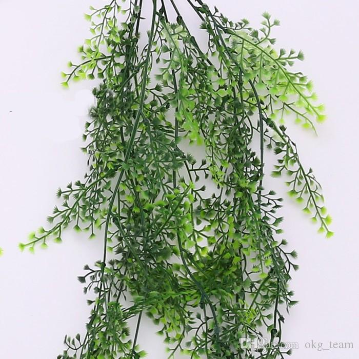 Wedding arch backdrop ideas Green Artificial Fake plastic hanging vines Plant Leave Garland Home Garden Wall Decoration Supplies