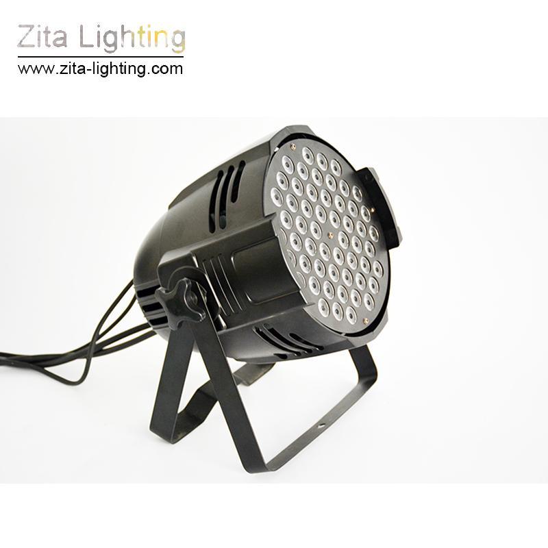 Zita Lighting LED Par Lights RGB 3IN1 Par64 54X3W Par Can Stage Lighting Outdoor& Indoor Building Wall Washer DJ Disco Tower Lamp Effect