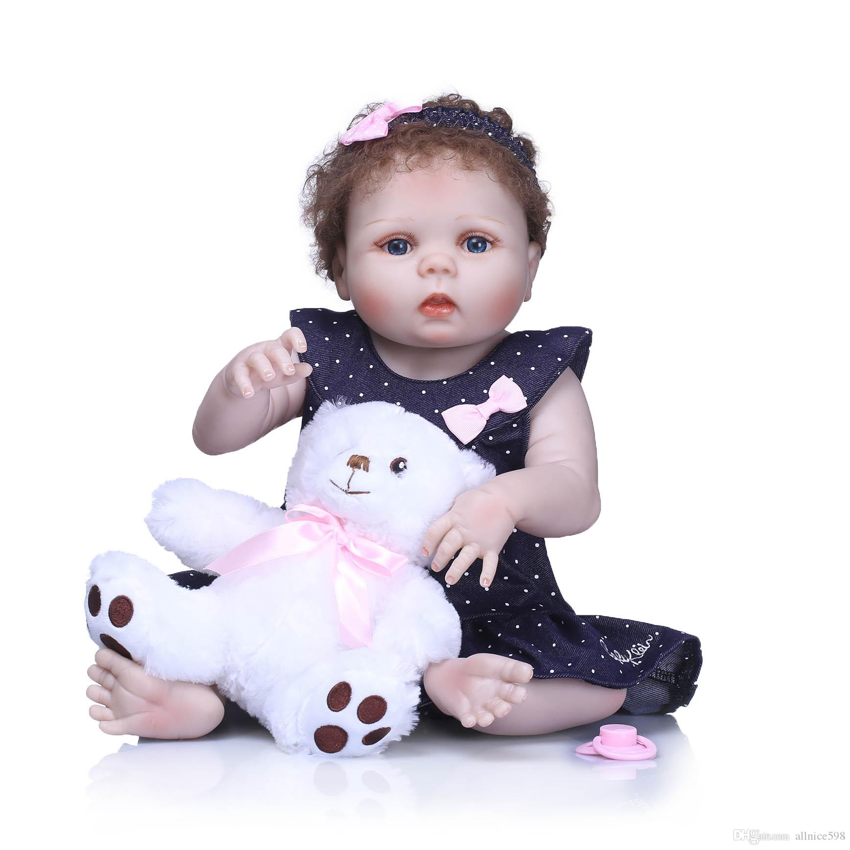 ef5c32fb2 2256CM Hot Reborn Doll Girl Baby Life Like Realistic Full ...