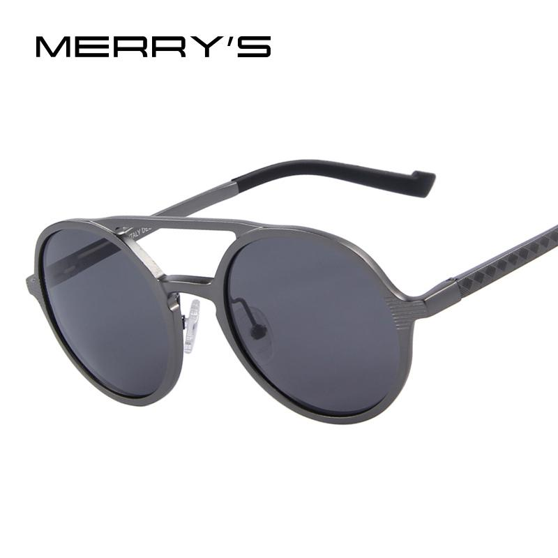 e28d448a0dd86 MERRY S Fashion Men Round Polarized Sunglasses Retro Aluminum Frame Women  Sunglasses Oculos De Sol UV400 Sunglasses Supplies Uv400 Polarized  Sunglasses ...