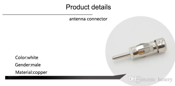 Autoradio Radio Audio Stereo ISO Din Antenna Antenna FM Adattatore Connettore Spina di rame placcato Nickel