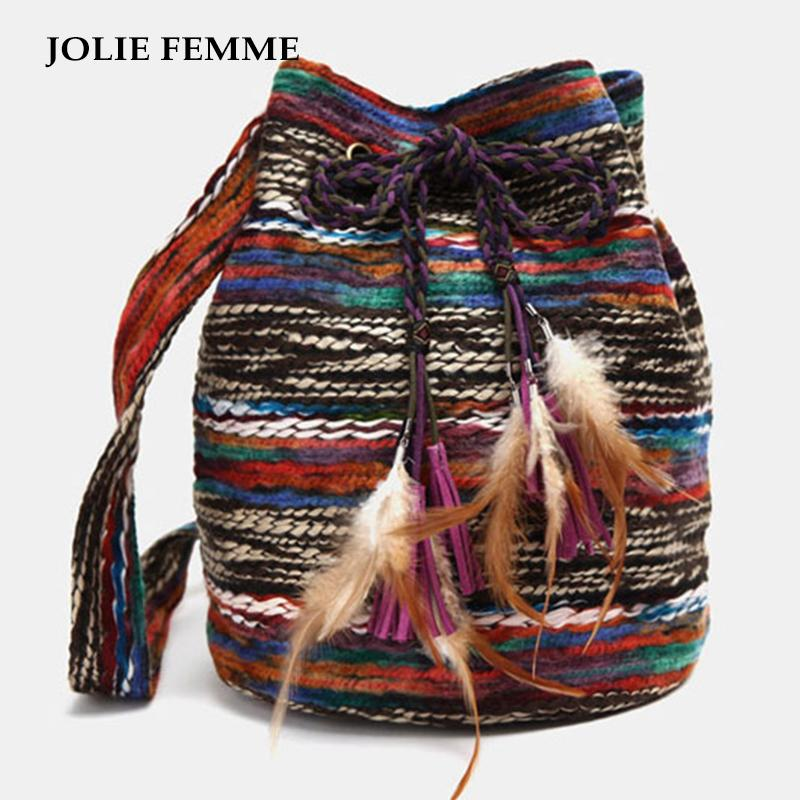 Jolie Femme Women Bohemia Handmade Knitting Shoulderbag Fashion
