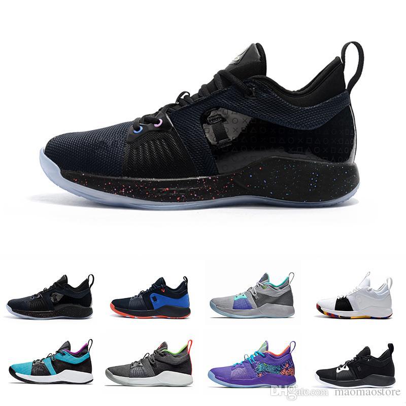 quality design 03bde 3f36c Acheter Nike 2018 Hommes Chaussures De Basket Ball Paul George 2 PG 2s Hommes  PG2 PS4 Maison Chaussures De Sport Bleues Noirs Or 40 46 De  157.01 Du ...