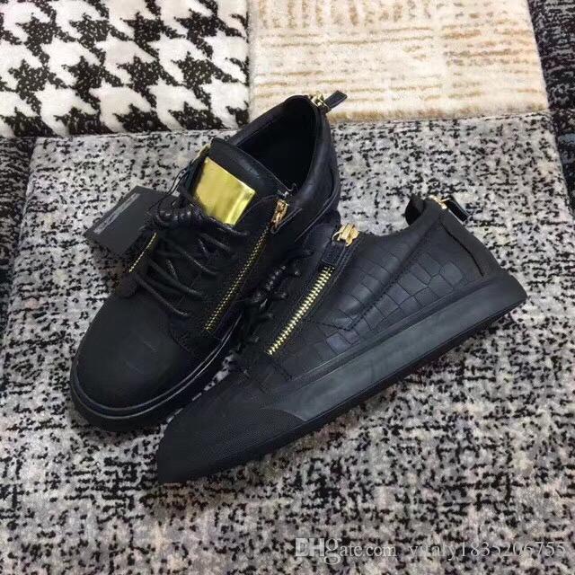 8a32be91a9163 Compre 2018 Moda Marca Con Cordones Diseño Primavera Y Otoño Unisex Zapatos  Originales Quanlity Causales Zapatillas Planas Con Cordones Cuero Genuino  ...