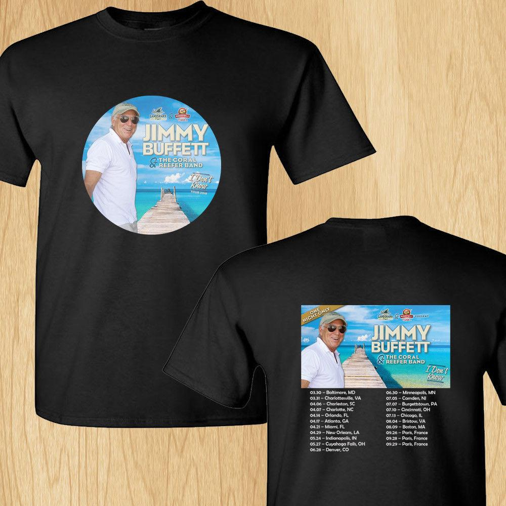 Online T Shirt Design Graphic Crew Neck Jimmy Buffet I Dont Know